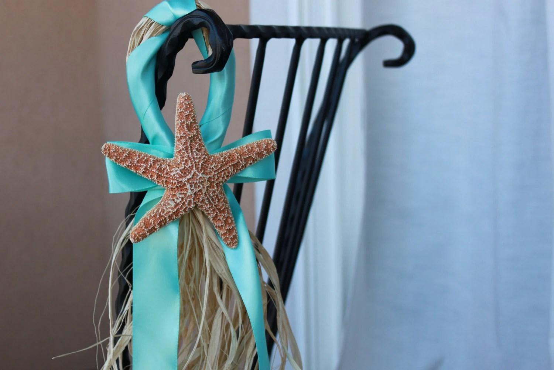 beach wedding chair decoration ideas kids wicker starfish decor aqua by beachweddingsbybree