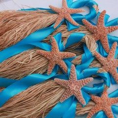 Starfish Wedding Chair Decorations Cover Rentals Albany Ny Beach Turquoise By Beachweddingsbybree On