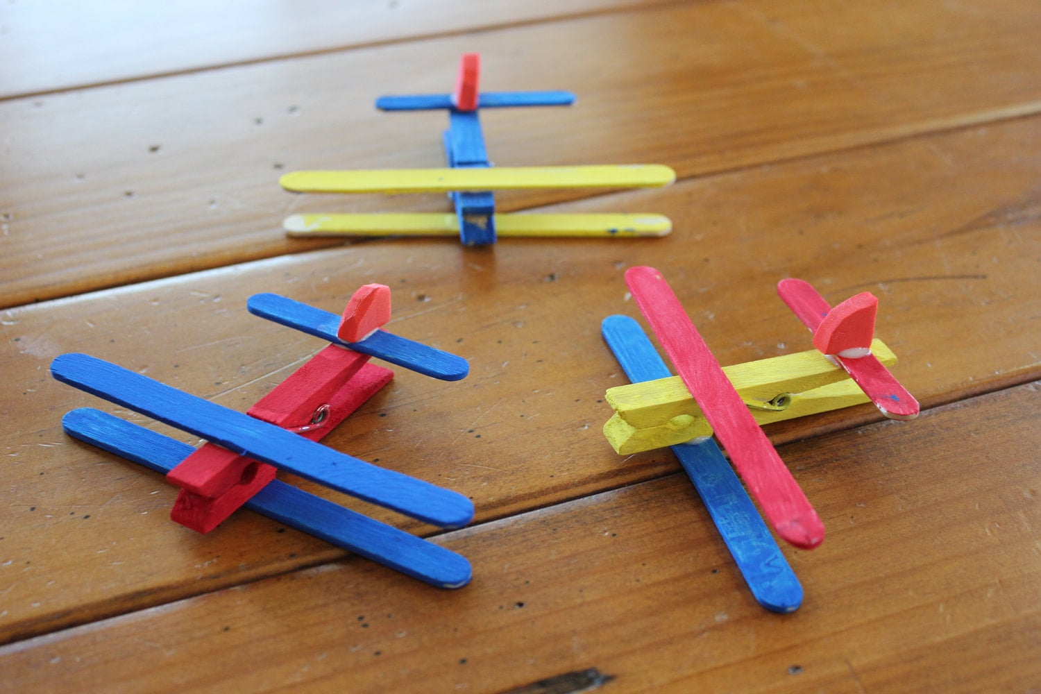 Clothespin Airplane Kids Craft Kit Makes 4 Planes By