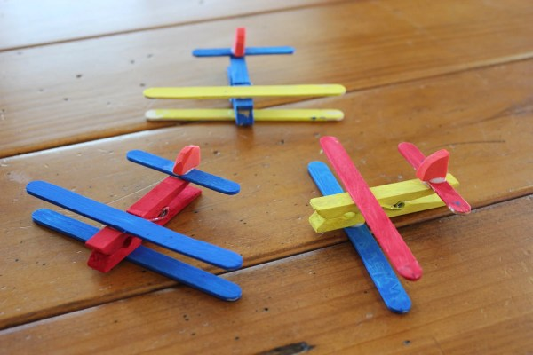 Clothespin Airplane Kids Craft Kit Makes 4 Planes Upseedaisee