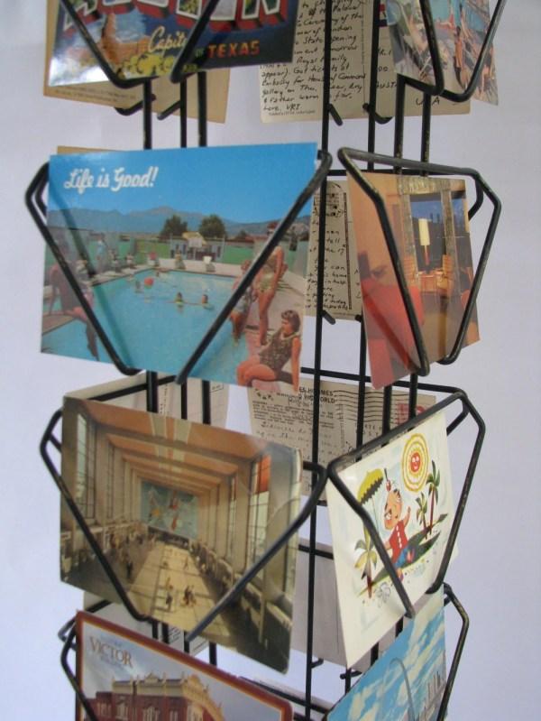 Vintage Postcard Display Rack