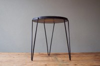 Mid-Century Modern Hairpin Leg Side Table by castandcrew ...