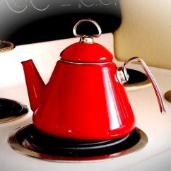Black Stainless Steel Kitchen Aid K45ss Vintage Teapot Chantal Retro Red Tea Kettle By Thewhitepelican