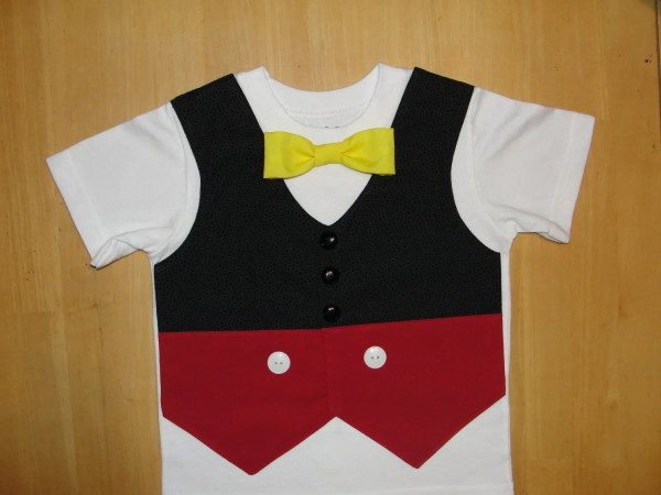 050f1aa40ccd Mickey Mouse Shirt Birthday Vest And Bow Tie Homeartsboerne