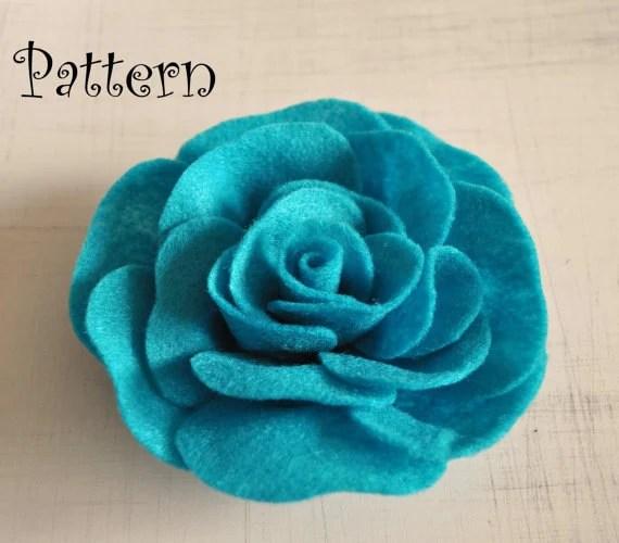 Rose Tutorial Felt Rose PDF Headband Pattern by