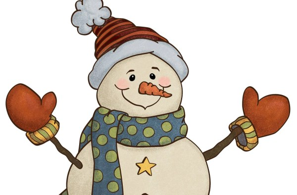holiday snowman country style clip