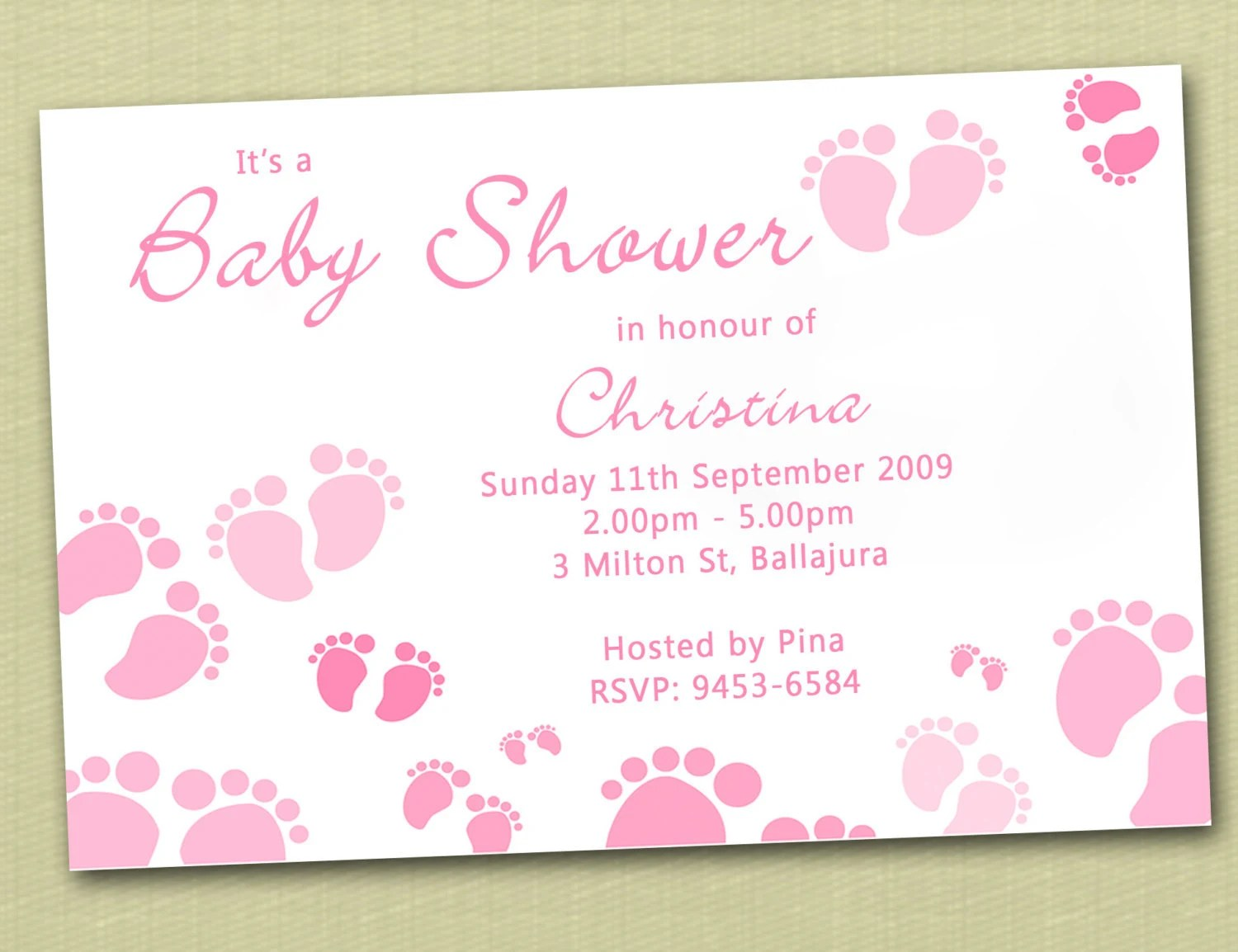 Personalised Baby Shower Invites