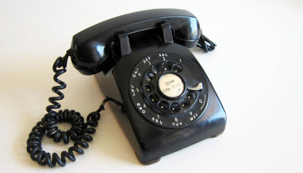 Vintage Rotary Telephone Retro Black Phone