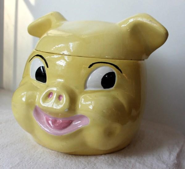 Vintage 1950' Pig Cookie Jar