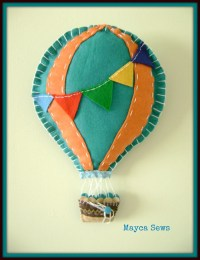 Hot Air Balloon Wall Decor. For nursery or kids room. by ...