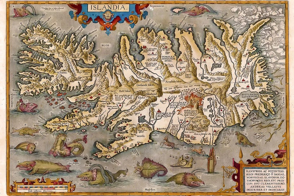 Monsters Sea 1500s Maps World