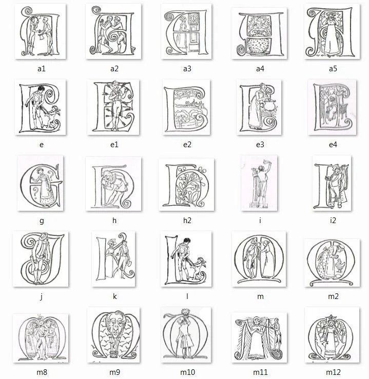 Hugh Thomson Jane Austen Pride and Prejudice Alphabet