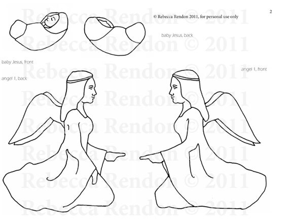 Items similar to 24 Piece Nativity Set Template on Etsy