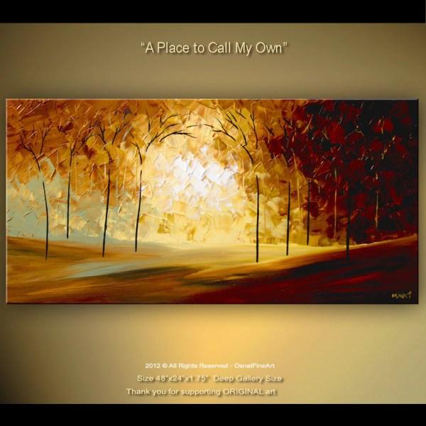 Fine Art Original Abstract Tree Painting Acrylic Landscape