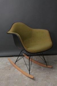 Vintage Herman Miller Eames Fabric Rocking Chair Mid Century