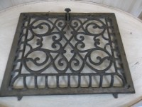 Antique Floor Furnace Grate or Wall Heater Cover by ...