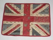 English Cottage Union Jack Flag Shabby Chic Quilted Mug Rug