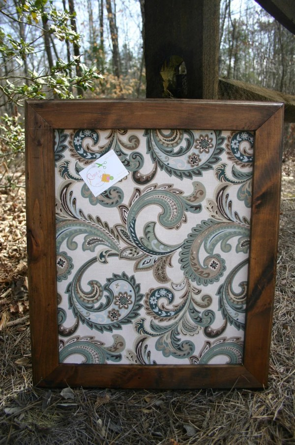 22x26 Beautiful Stained Frame With Decorative Cork Board