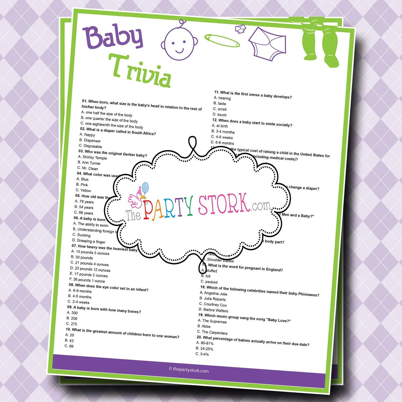 Printable Baby Shower Games Uk