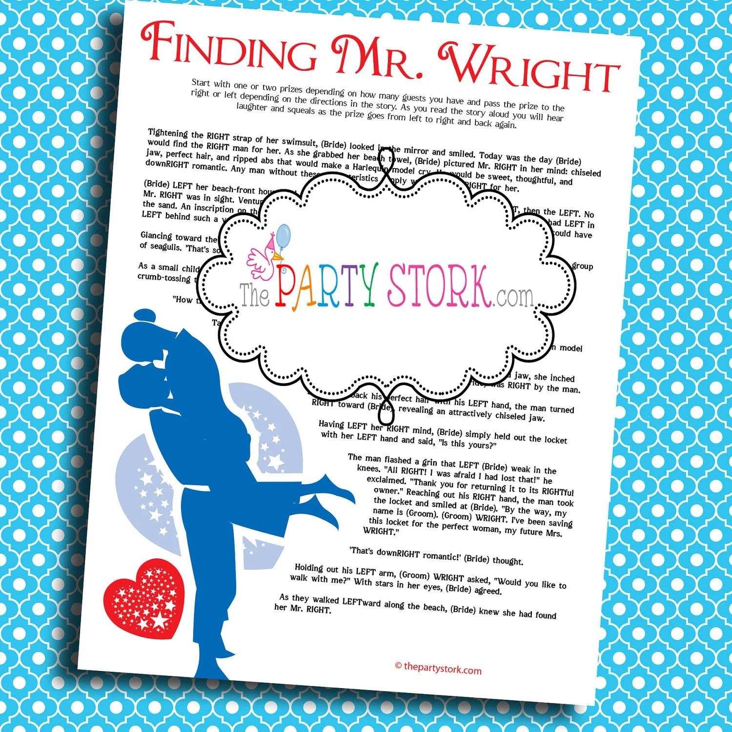 Bridal Shower Games Printable Finding Mr Right Game Many