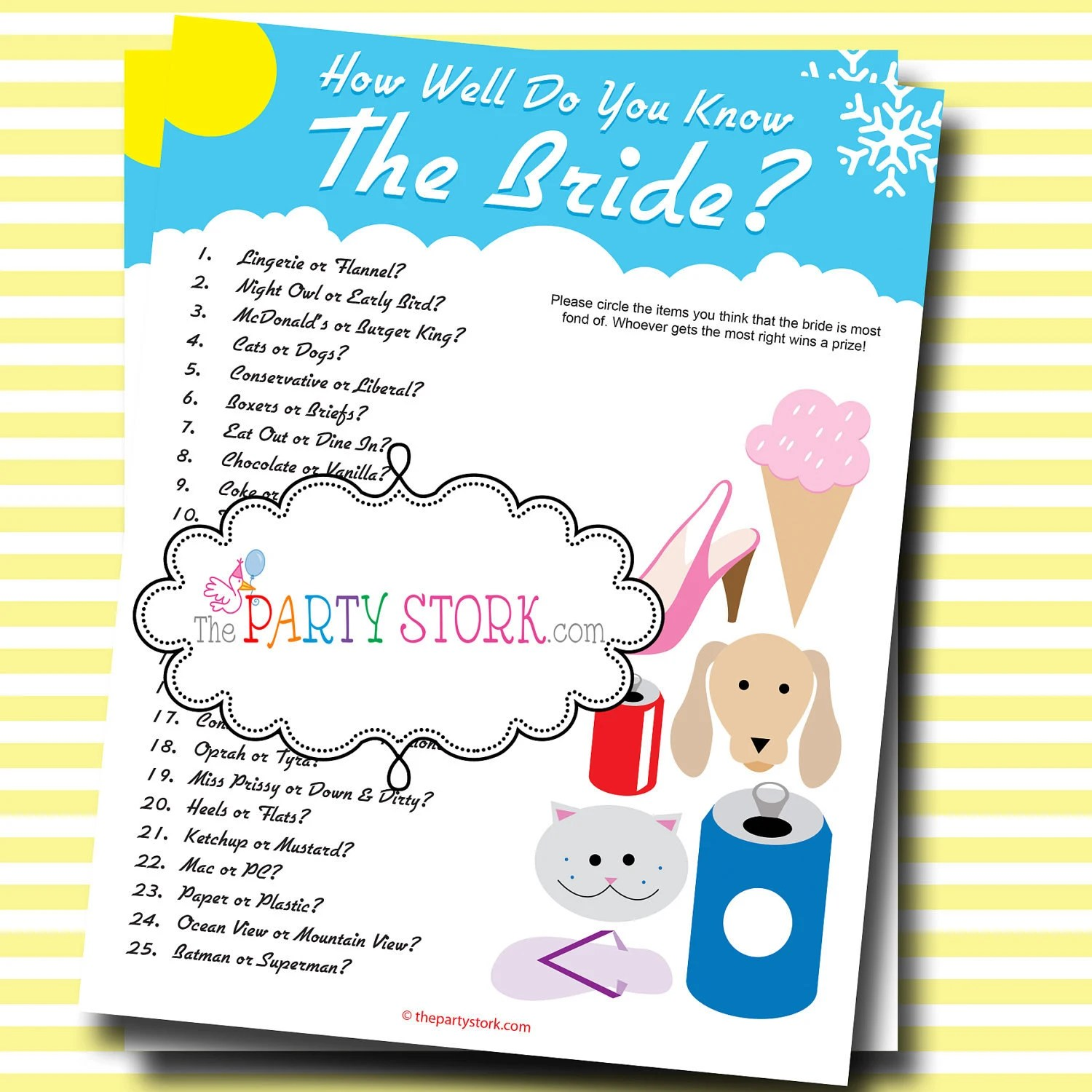 Who Knows The Bride Best Bridal Shower Game Printable Many