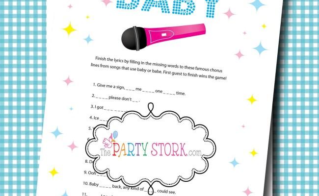 Girl Or Boy Baby Shower Games Fun Karaoke Baby Shower Game