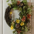 Items similar to front door wreath country candle wreath summer