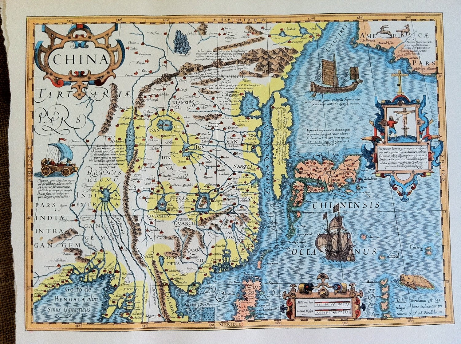 Vintage Map Ancient China By Livelynightshade On Etsy