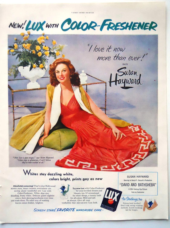 Vintage Lux Soap AdStar Susan HaywardVintage Bathroom Cedor