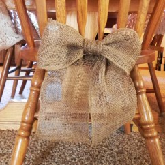 Burlap Bows For Wedding Chairs Childrens Plush Bow Decoration Curtain Tie Back Wreath