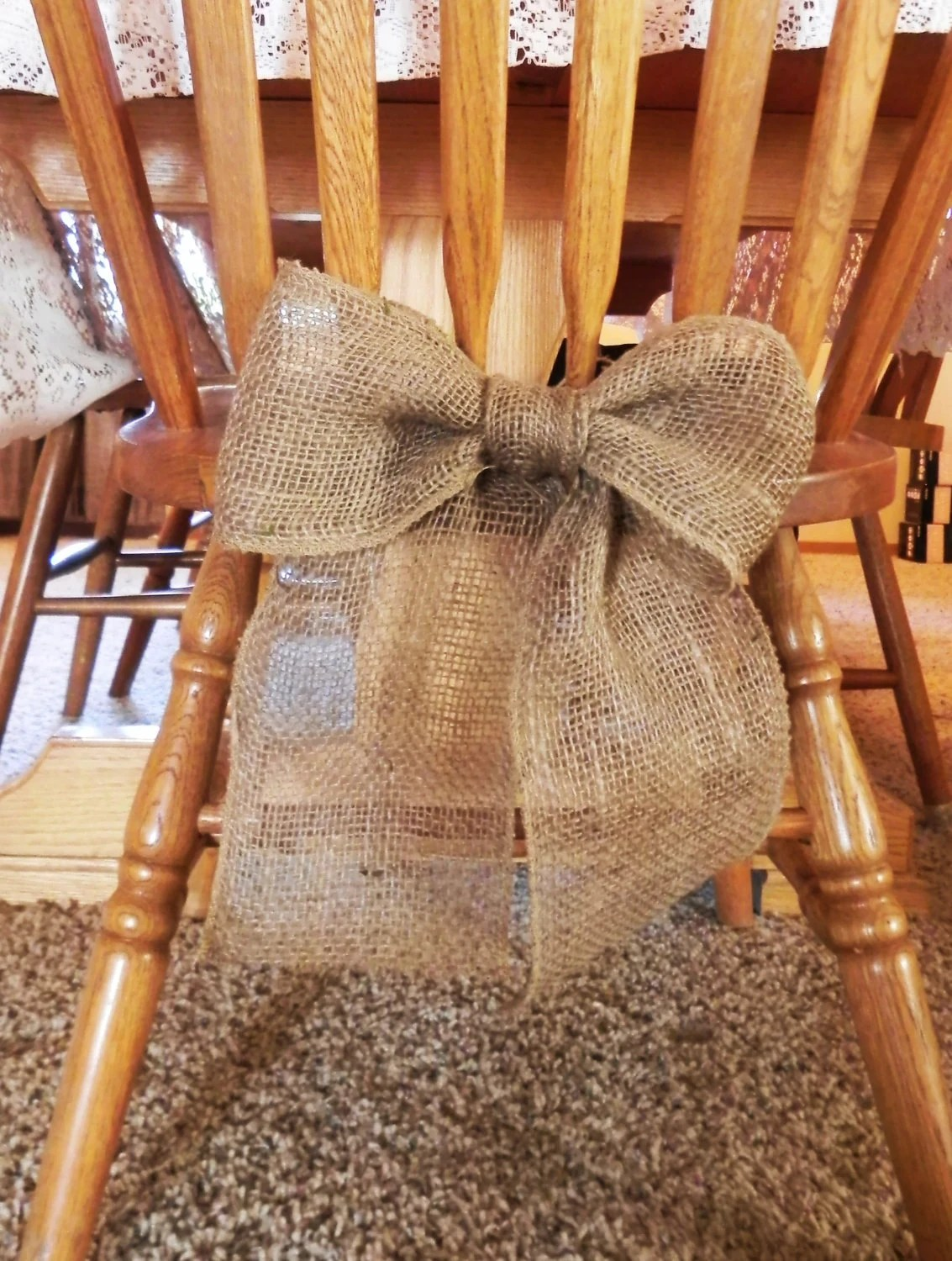 Burlap Chairs Burlap Bow Wedding Decoration Chairs Curtain Tie Back Wreath