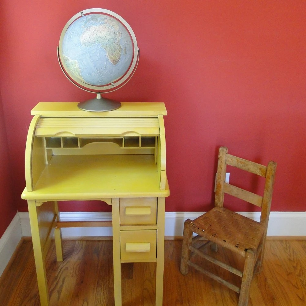 childs rattan chair captains boat seats vintage desk roll top 1940s petite wooden vanity table