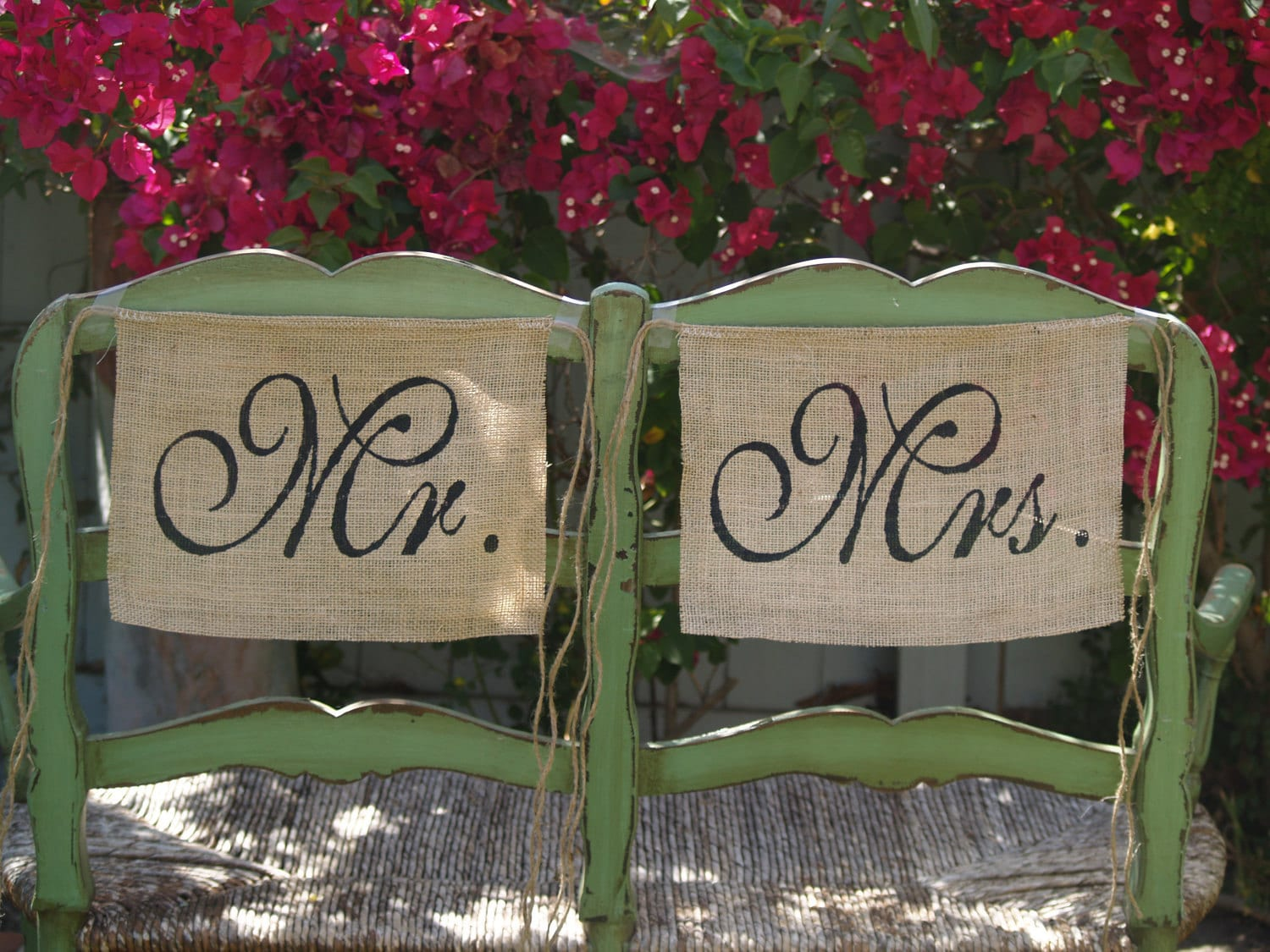 mr and mrs chair signs client chairs office furniture burlap wedding by butterflyabove
