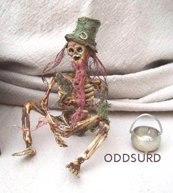 Dead Fairy LEPRECHAUN Sideshow Gaff Curiosity Oddity St