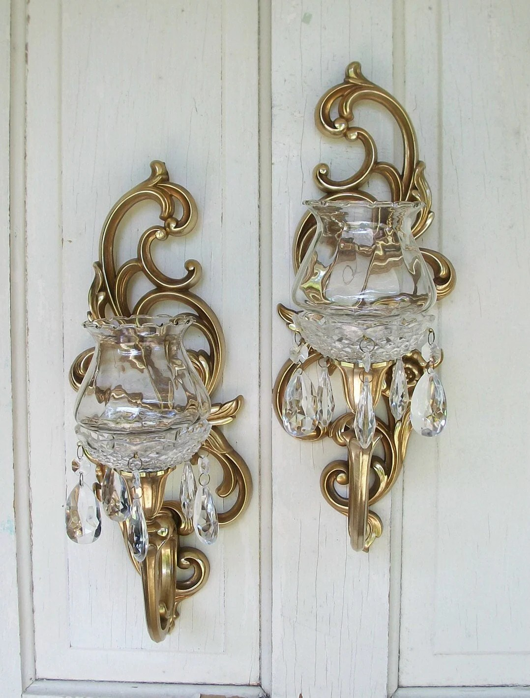 Gold Candle Wall Sconces