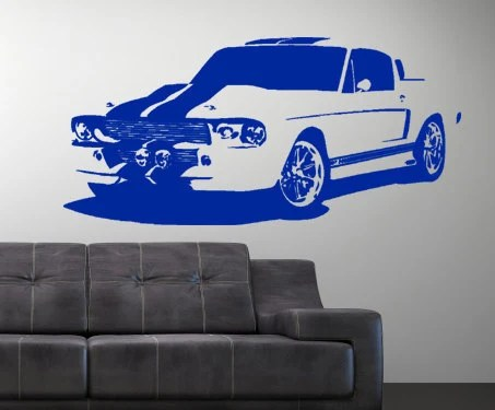 Items similar to Vinyl wall decal muscle car shelby gt 500