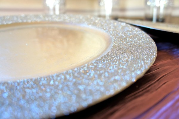 Champagne Glitter Charger Sparkle Wedding