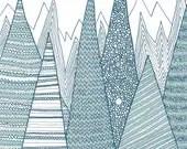 Mountains / Greeting card - anitaivancenko