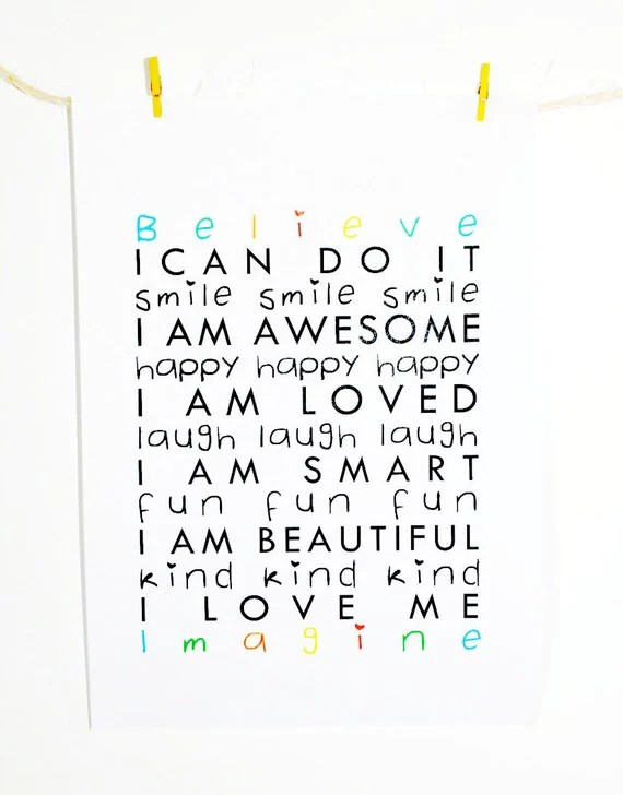Items similar to Children's positive affirmations