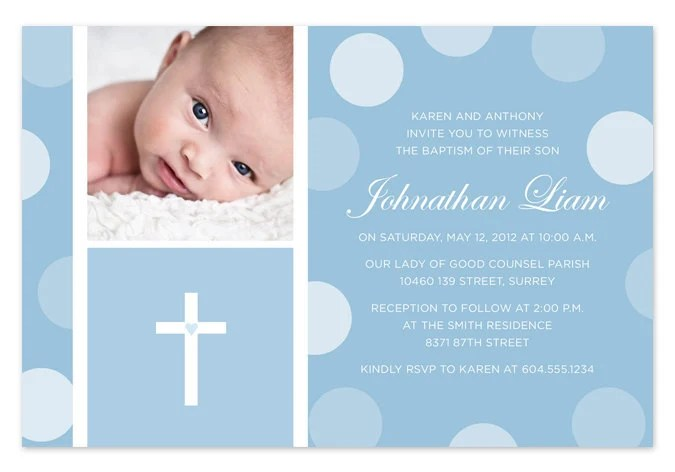 Create Baptism Invitations Online