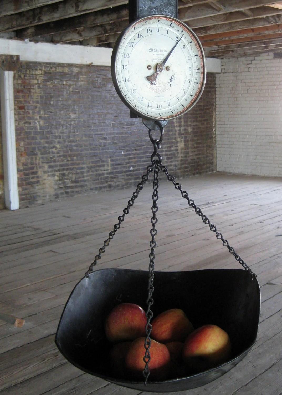 Vintage Hanging Scale with Scoop by territoryhardgoods on Etsy