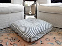 Vintage French Mattress Ticking Feather Dog Bed