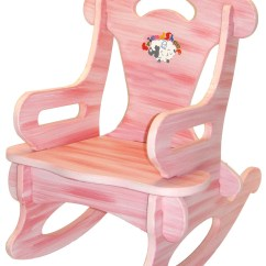 Pink Toddler Rocking Chair And Half Glider Rocker Puzzle Solid Wood For By