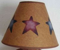 Items similar to Primitive Country Big Star Lamp Shade on Etsy
