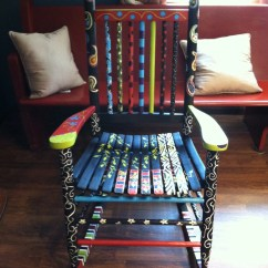Funky Wooden Chairs Chair Bed Sleeper Ikea Fun And Rocking