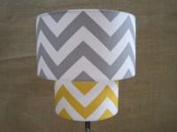 Items similar to Lamp Shade Chevron Zig Zag Drum Lampshade ...