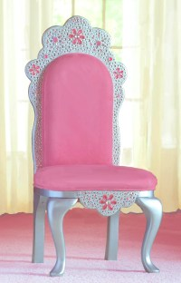 Items similar to Diamond Tiara Princess Chair in pink faux ...