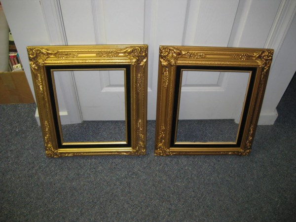 11x14 Gold Leaf Wood Frames. Lot Of 2