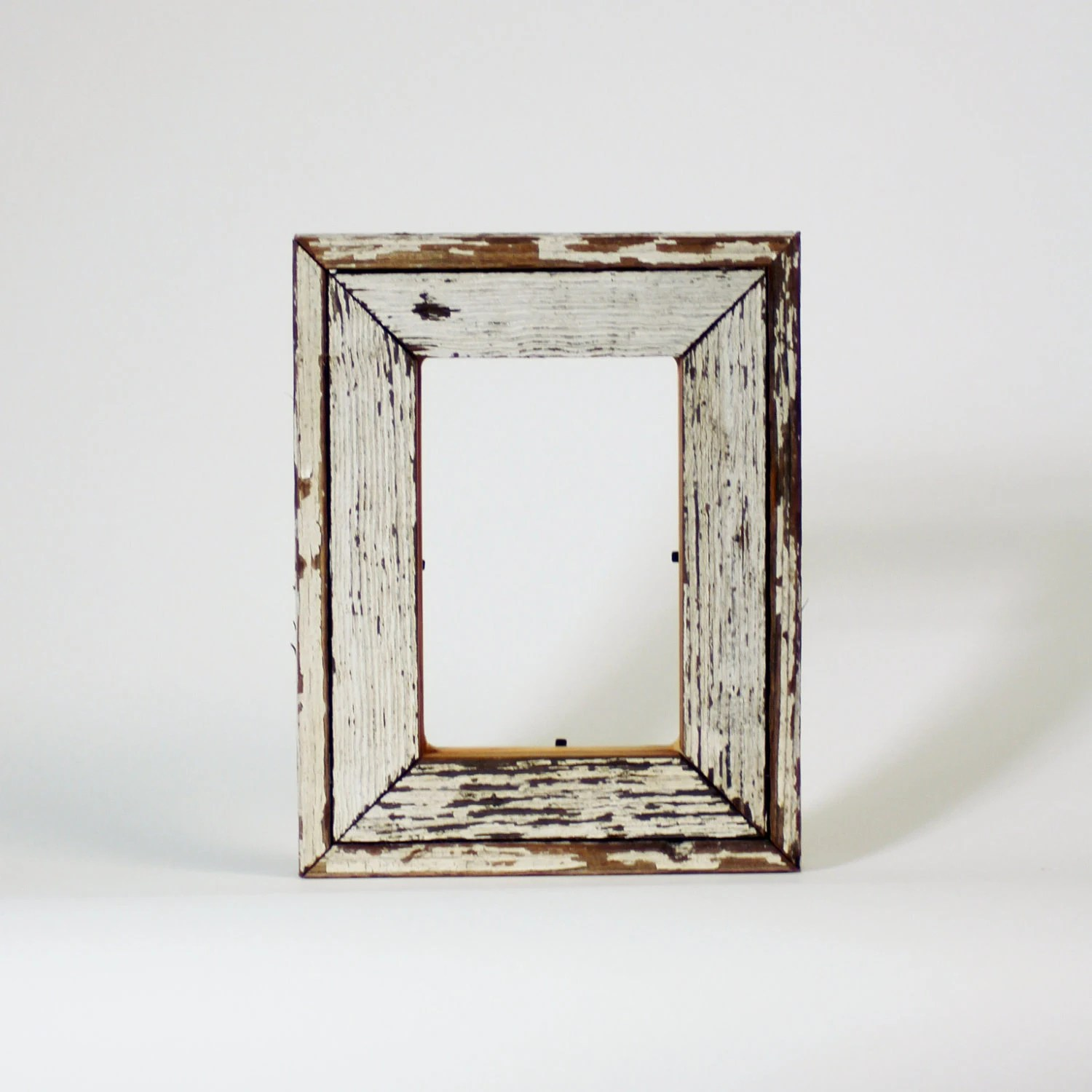 Reclaim Wood Frame - Antique Heart Pine White Frame Southern Reclaimed Wood 4x6 Ready to Ship - RestorationHarbor
