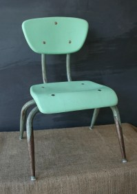 Vintage Aqua Blue Toddler Chair by RamonaMorningbird on Etsy